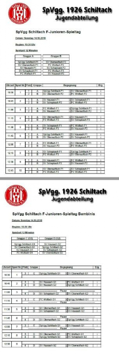 Fair Play Spieltag der F-Junioren und Bambinis in Schiltach.